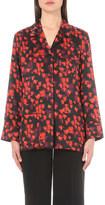 Givenchy Floral-print silk-satin shirt