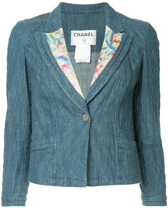 Chanel Pre Owned CC logos one button basic jacket