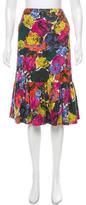 Dries Van Noten Floral Knee-Length Skirt
