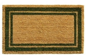 "Home & More Border 18"" x 30"" Coir/Vinyl Doormat Bedding"