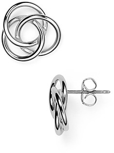 Bloomingdale's Sterling Silver Love Knot Earrings - 100% Exclusive