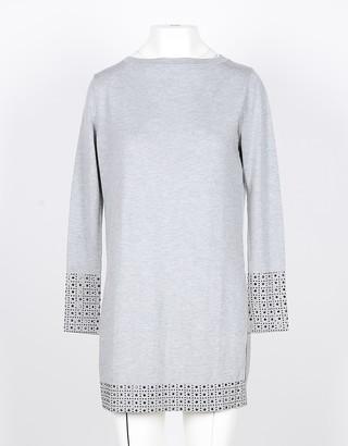 Snobby Sheep Light Gray Silk and Cashmere Blend Women's Long Sweater