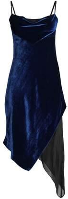 Kiki de Montparnasse Velvet & Silk Bias Slip Dress