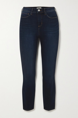 L'Agence Margot Cropped High-rise Skinny Jeans - Blue