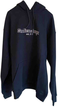 Balenciaga Navy Cotton Knitwear & Sweatshirts