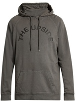 The Upside Logo-print cotton hooded sweatshirt