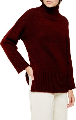 Topshop Funnel Neck Sweater