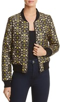Lucy Paris Metallic Brocade Bomber Jacket