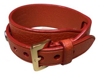 Louis Vuitton Orange Leather Bracelets