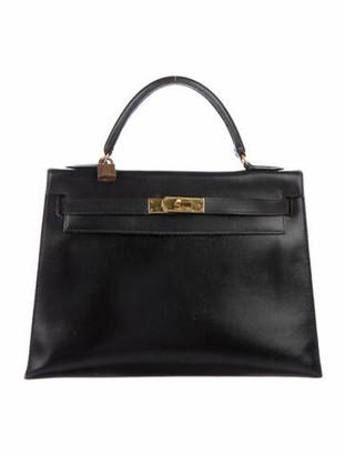 Hermes Vintage Swift Kelly Retourne 32 Noir