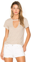 LnA Short Sleeve Cut Out V Tee