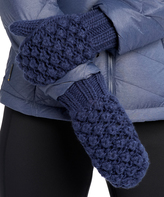LOLA Cosmetics Amalfi Blue Popcorn-Knit Mittens