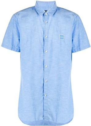 HUGO BOSS Shortsleeved Shirt With Logo Patch