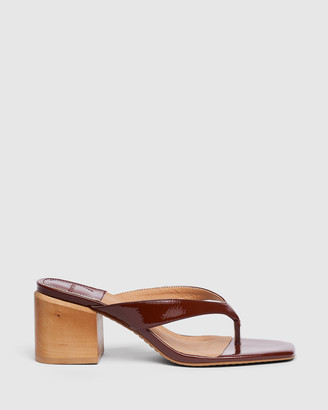 cherrichella - Women's Red Open Toe Heels - Cedar Mules - Size One Size, 38 at The Iconic