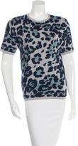 Derek Lam Leopard Pattern Short Sleeve Top