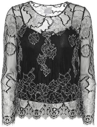 Huishan Zhang Piper embroidered lace top