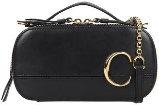 Chloé C Vanity Shoulder Bag In Black Leather