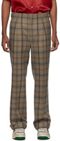 Gucci Brown Plaid Cuffed Trousers