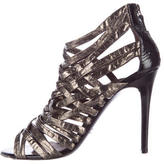 Devi Kroell Metallic Caged Sandals