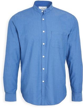 Portuguese Flannel Mao Band Collar Button Down Shirt