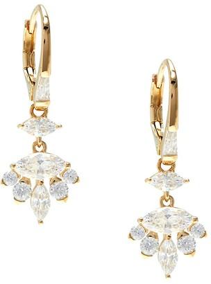 Adriana Orsini Goldtone Cubic Zirconia Drop Earrings