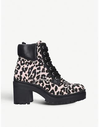 Aldo Brania animal-print leather ankle boots