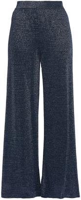 Missoni Cropped Metallic Knitted Wide-leg Pants