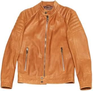 HUGO BOSS Camel Leather Jackets