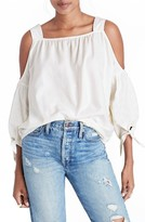 Madewell Women's Cotton Cold Shoulder Blouse