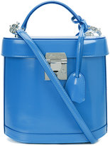 Mark Cross removable strap structured tote