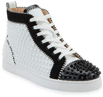 Men S Louis Spikes 2 Leather High Top Sneaker
