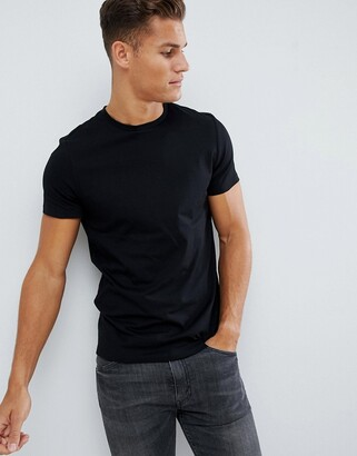 Asos DESIGN organic t-shirt with crew neck in black