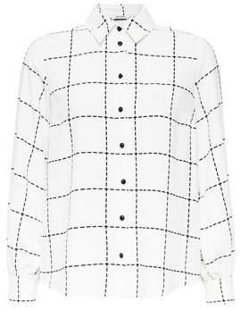 Dorothy Perkins Womens Petite Ivory Grid Check Print Longline Shirt