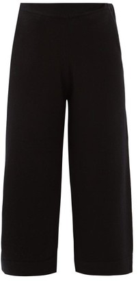 Allude High-rise Cashmere Cropped Trousers - Black
