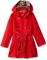 Pink Platinum Toddler Girls' Little Classic Trench Withsatin Lining