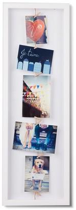 Umbra Clothesline Flip Photo Frame - white - Natural/White/Natural