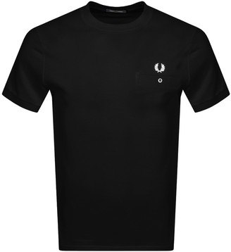 Fred Perry Pocket Detail T Shirt Black