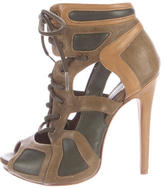 McQ by Alexander McQueen Cutout Leather Sandals