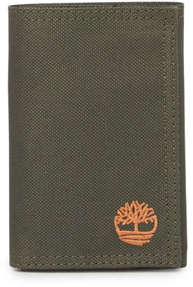 Timberland Nylon Embroidered Trifold Wallet