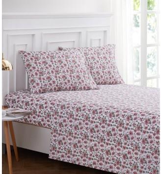 Harper Lane Pink Roses 3-piece Sheet Set Twin