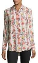 Equipment Essential Floral Silk Blouse