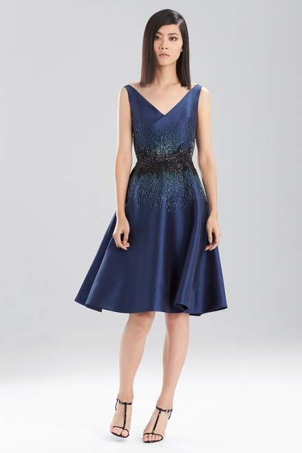 Josie Natori Satin Twill Dress
