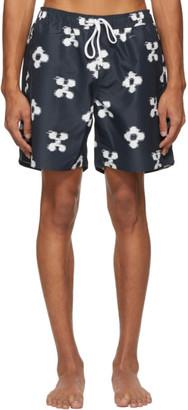 Saturdays NYC Indigo Timothy Ikat Swim Shorts