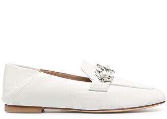 Stuart Weitzman Slip-On Leather Loafers