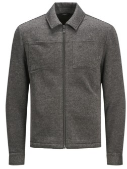 Jack and Jones Men's Full Zip Long Sleeve Sweat Jacket