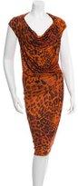 Plein Sud Jeans Draped Leopard Print Dress w/ Tags