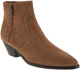 Marc Fisher Leather Western Detailed Ankle Boots - Wanida