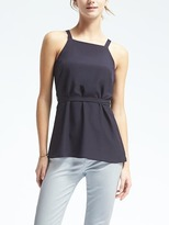 Banana Republic Belted Sleeveless Top