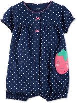 Carter's Dot-Print Strawberry Romper, Baby Girls (0-24 months)
