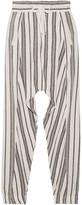 Vanessa Bruno Guillaume Slub Cotton-jacquard Pants - Ivory